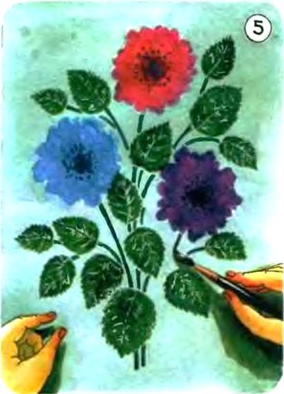 Батик методом печати и узелков