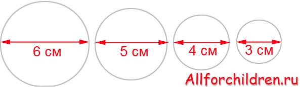 Окружности в расщынми диаметрами