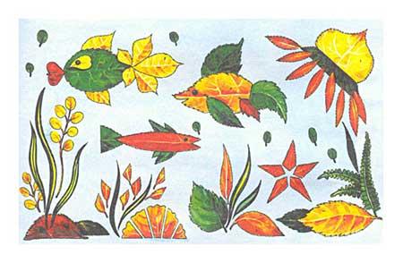 Аквариум из осенних листьев
