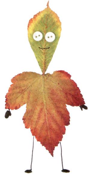 Человечек из осенних листьев