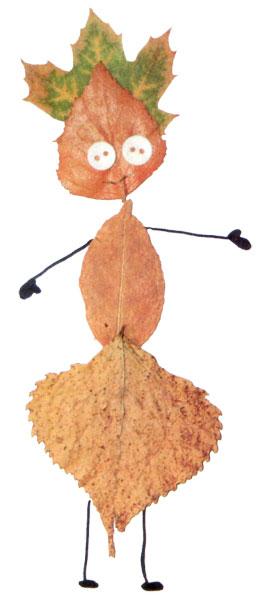 Девочка из осенних листьев