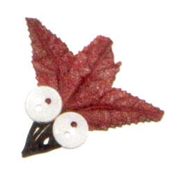 Жучок из осенних листьев