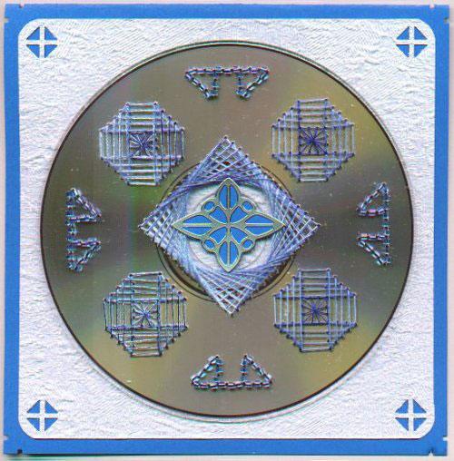 Нитяная графика (изонить (изображение нитью), ниточный дизайн) — графическое изображение, выполненное нитками на любом твёрдом основании. Пример готовой работы 3
