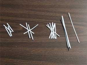 Квиллинг:бумажные полоски разной длины