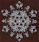 Квиллинг: снежинка