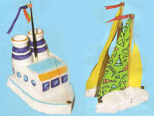 Морские судна из пенопласта