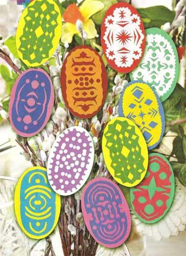 Пасхальные яйца из салфеток