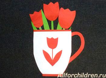 Готовая цветочная открытка