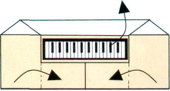 Оригами пианино
