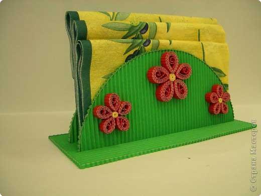 Салфетница из картона для детей