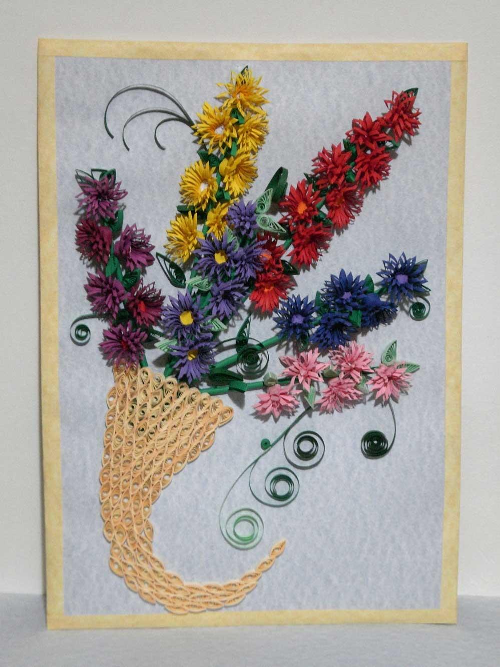 Квиллинг картинки схемы цветов 8