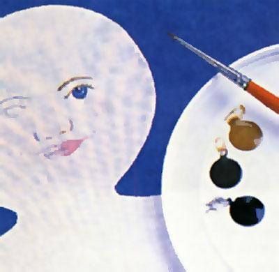 Рисуем лицо куклы-перевёртыша