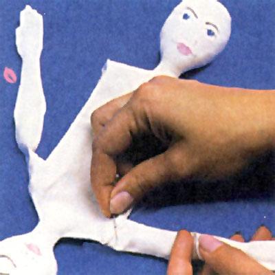 Как пришить руку куклы-перевёртыша