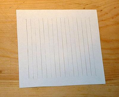 Делаем открытку-валентинку плетёную. Основа открытки