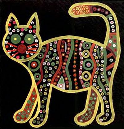 Рисуем пеструю кошку
