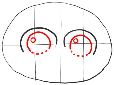 Рисуем глаза Морта