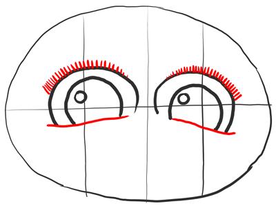 Рисуем ресницы Морта