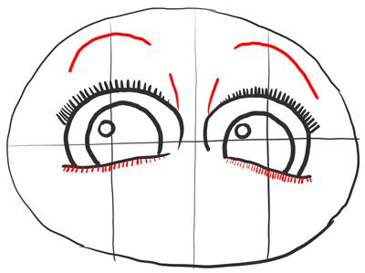 Рисуем ресницы и брови Морта
