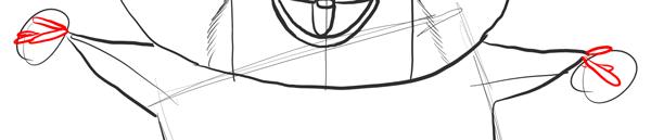 Рисуем передних лап Морта
