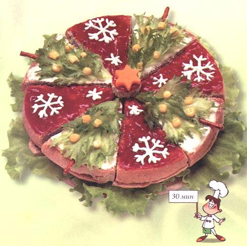 Бутербоды - Новогодний торт из бутербродов