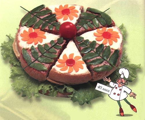 Бутербоды - Цветок лотоса