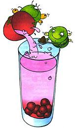 Приготовление коктейля из вишни. Шаг 3