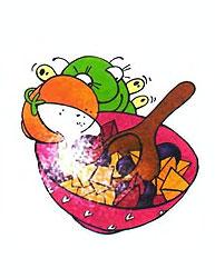 Приготовление фруктового салата. Шаг 2