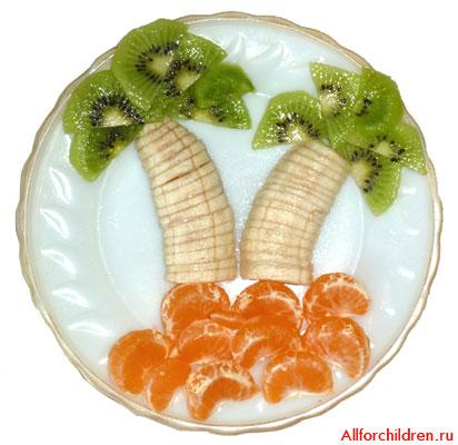 Фруктовый десерт - Тропический остров