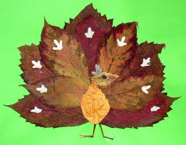 Красивые поделки из листьев на тему осень