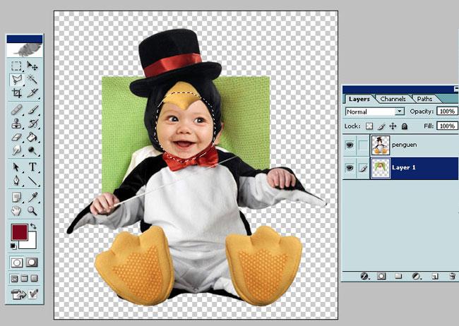 Открываем файл для монтажа в Photoshop
