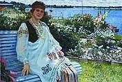 Богданов-Бельский Николай Петрович (1868-1945). Весна. Потрет госпожи И.Баумане. 1924