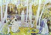 Борисов-Мусатов Виктор Эльпидифирович (1870-1905). Весенняя история [1904]
