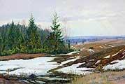 Бродская Лидия Исааковна (1910-1991). Весна на полях. 1983