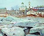 Бродский Исаак Израилевич (1883-1939). Ледоход во Пскове. 1913