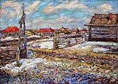 Бурлюк Давид Давидович (1882-1967). Весна в деревне Иглино. 1917