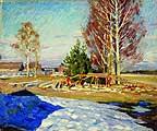 Виноградов Сергей Арсеньевич (1870-1938). Весенний пейзаж. 1913