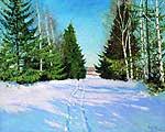 Грабарь Игорь Эммануилович (1871-1960). Мартовский снег. 1904