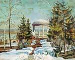 Жуковский Станислав Юлианович (1875-1944) Весна (Речка вскрылась). 1903