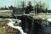 Жуковский Станислав Юлианович (1875-1944) Весна в Абрамцеве. 1909