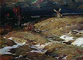 Колесников Степан Федорович. (1879-1955). Перед грозой. 1909