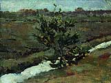Левитан Исаак Ильич (1860-1900). Ранняя весна. Последний снег. Этюд