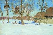 Левитан Исаак Ильич (1860-1900). Ранняя весна. 1890-е