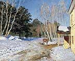 Левитан Исаак Ильич (1860-1900). Ранняя весна. Молодая сосна