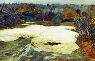 Левитан Исаак Ильич (1860-1900). В начале марта. 1900