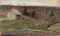Нестеров Михаил Васильевич. (1862-1942). Весенний пейзаж. 1890-е