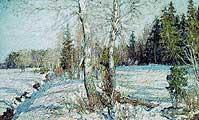 Петровичев петр Иванович (1847-1947). Ранняя весна. 1912
