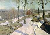 Пурвит Вильгельм. Последний снег. 1898