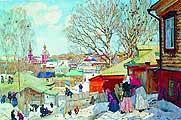 Юон Константин Федорович (1875-1958). Весенний солнечный день. 1910