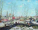Юон Константин Федорович (1875-1958). Весна в Троицкой лавре. 1911