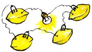 Батарейка из лимонов
